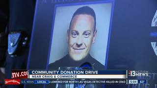 Donation drive held for family of NLV officer