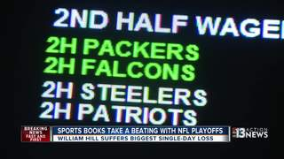 Vegas sports books take hit from NFL playoffs