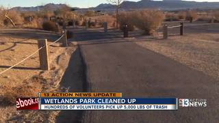 People pleased to see Wetlands Park cleaned up