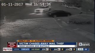 CAUGHT ON CAMERA: Man chases after mail thief
