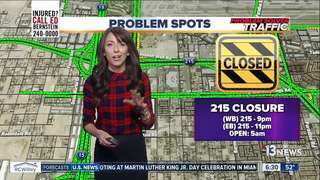 215 near airport to be closed Jan. 16, 17 nights