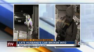 Widow burglarized on day of husband's funeral