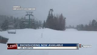 Lee Canyon now offers snowshoeing