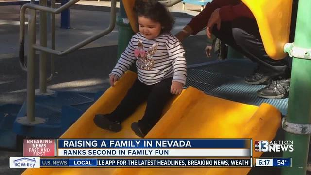 Nevada is the 5th worst state to raise a family