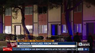 Woman injured in Henderson townhome fire