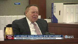 Las Vegas Sands paying $7M to settle probe