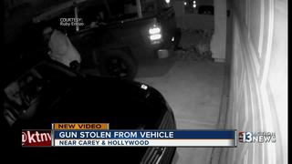 CAUGHT ON CAMERA: Gun stolen from vehicle