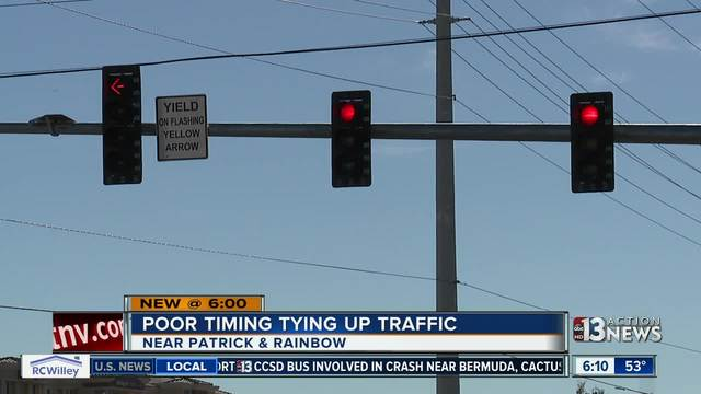 TRAFFIC TROUBLES: Signal timing issues