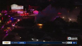 House fire near Desert Inn, Fort Apache roads