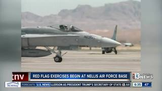 Red Flag exercises begin at Nellis AFB