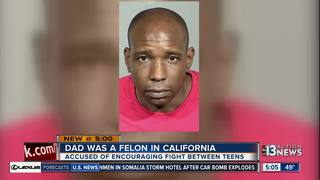 Father accused in teen fight a convicted felon