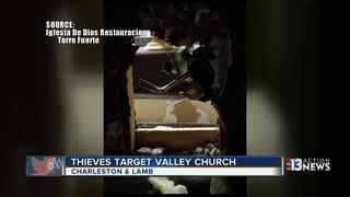 Thieves cut through wall of church
