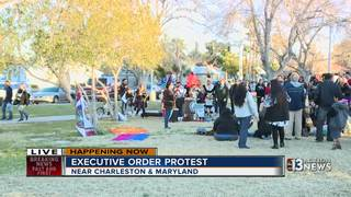 Protest against president's executive orders