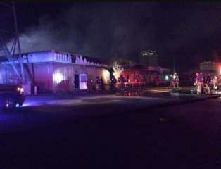 Fire in vacant downtown Vegas building
