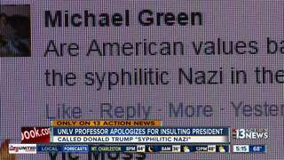 UNLV professor apologizing for Trump remarks