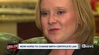 Woman hopes to change birth certificate law
