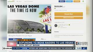 GoFundMe accounts set up for Raiders move