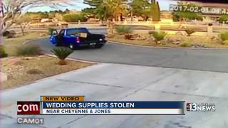 CAUGHT ON CAMERA: Wedding supplies stolen