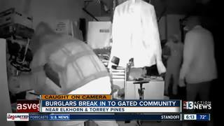 CAUGHT ON CAMERA: Burglars hit gated community