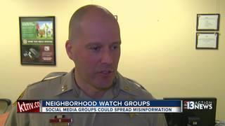 Police encourage neighborhood watch groups