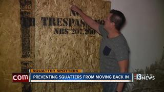 Man boards up vacant home to keep out squatters
