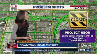 TRAFFIC TROUBLES: Casino Center on-ramp closure