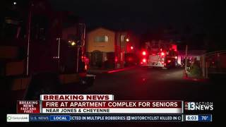 Storage shed fire at apartment complex