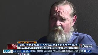 Residents displaced by fire need place to live