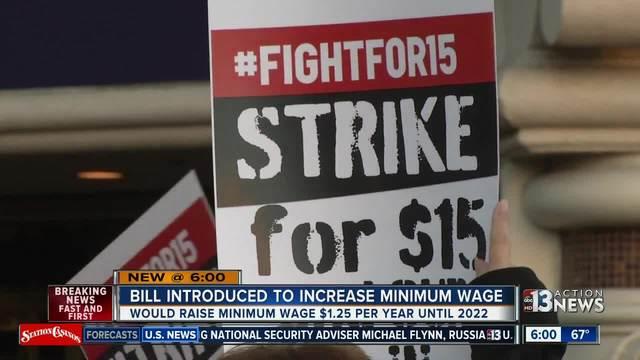 bill introduced to raise nevada minimum wage to 15 las vegas. Black Bedroom Furniture Sets. Home Design Ideas