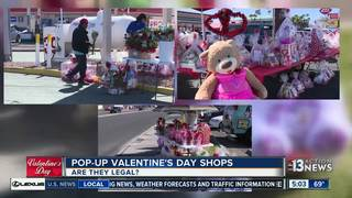Roadside Valentine's Day stands may be illegal