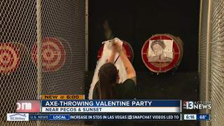 Women throw axes to take out frustrations