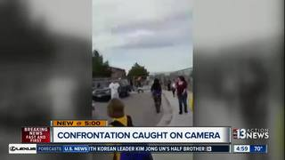 Confrontation in front of school over parking