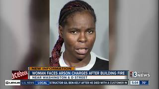 Woman charged with arson in vacant building fire