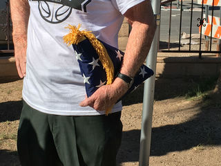 US Navy veteran's four flags burned to ashes