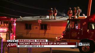 Vacant house catches fire near Lake Mead, MLK