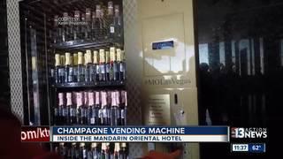 Champagne vending machine makes Strip debut