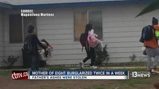 Family's home burglarized twice in 8 days
