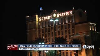 Woman struck, purse stolen at Sunset Station