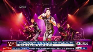 Frankie Moreno to receive proclamation Friday