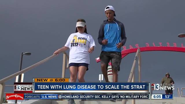 Teen hopes to inspire while scaling the Strat