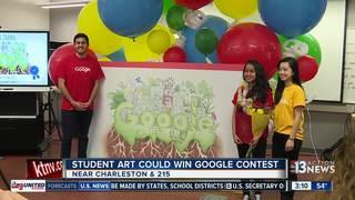 Las Vegas freshman's art could be seen on Google