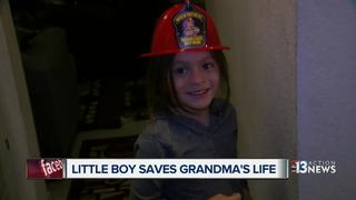 Boy called a hero for saving grandmother's life