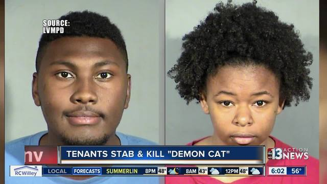Las Vegas couple confesses to torturing- killing cat believed to be a demon