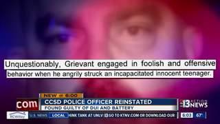 CONTACT 13: Cop reinstated despite convictions