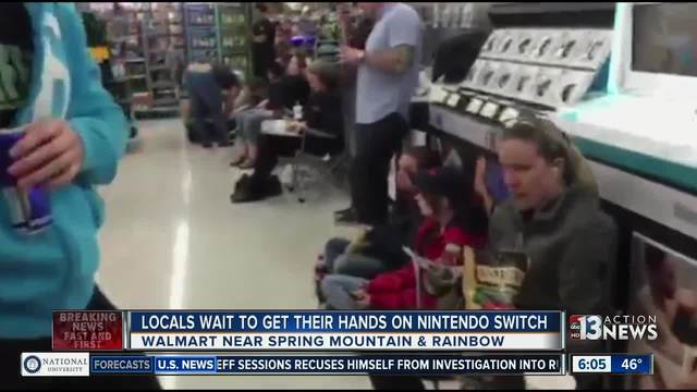 people lined up overnight at a local walmart in hopes of getting their