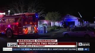 2 people displaced by overnight fire