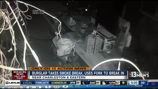 CAUGHT ON CAMERA: Smoking thief breaks into home