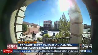 CAUGHT ON CAMERA: Present stolen from porch