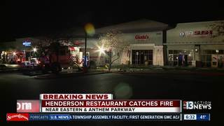 Henderson restaurant catches fire Tuesday