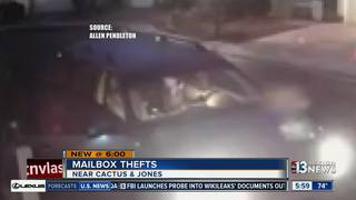 CAUGHT ON CAMERA: Mail stolen since December